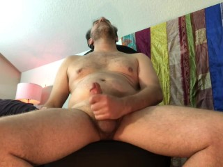 Mature granny bbw cock chair to loud orgasm...
