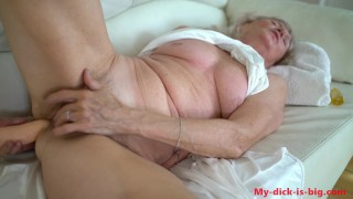 Horny granny 70 yo ANAL masturbate 3. My-dick-is-big 4K
