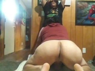 Young latina sneeks to get fucked by huge...