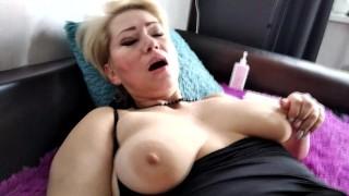 Russian real mature couple: Hot POV closeup fucking & big tits bouncing... Sexwife AimeeParadise!