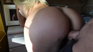 Teen (18) Anal Sex At Home In The Kitchen,No Parents Yet - Amater Video
