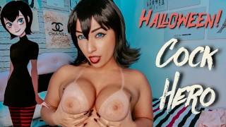 Halloween Mavis Dracula cosplay cock hero evelotion game, ahegao faces, blowjob