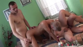 REALMENFUCK European Gay Young Studs Fuck In Hardcore Group