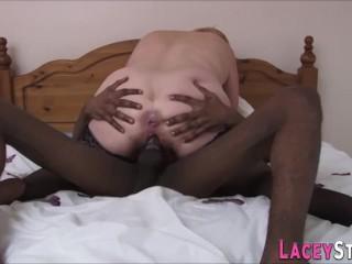 Granny rides black dick and rubs...