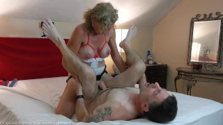 Sexy Babe PASSIONATE PEGGING his ASS FUCK him HARD Dick Ride SENSUAL SEX - REAL COUPLE INTIMATE SEX