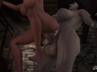 Futa lady dimitrescu fucks her maid preview...