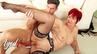 AGEDLOVE Horny Redhead Mature Linda and Alexei Jackson Hardcore Sex