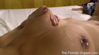 Horny Latina Babe with Amazing Milking Breasts Masturbates Her Wet Pussy To Real Orgasms