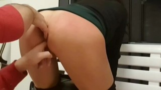 Step sister get 2 hands in her ass, all fingers inside SHE IS ENJOY WITH HER BROKE ANAL
