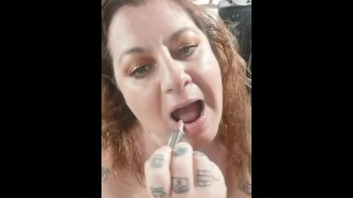 Putting on LIPSTICK to please your COCK