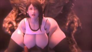Hentai 3D tifa fuck monster ( 4k )