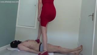 Wedge trampling on my slave