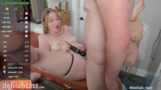 Older Daddy Cums In Her Pussy LIVE Then In Her Dirty Talking Mouth
