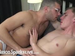 JasonSparksLive - Uncut jock top barebacks sweet scruffy bottom