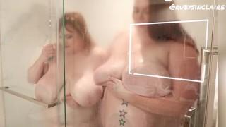 Asstyn Martyn and Ruby Sinclaire redhead BBW Shower Time // full vid at roobiboobifans