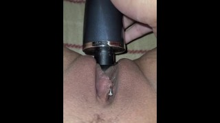 Fuck My toy feels so good inside of my squirting tight white pussy