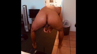 Horny Daddy Strokes His Rock Hard Cock and Blows Huge Load