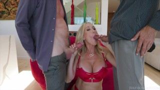 Jules Jordan - Brandi Love Is Back At It With Some 2 Cock Jerk Off Instruction 3 Way Action