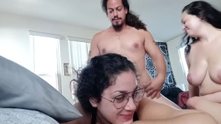 Fucking my friend's husband when she walks in - Full video