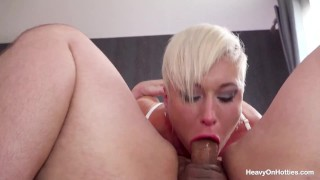 British Babe Gets Her Mouth And Pussy Fucked