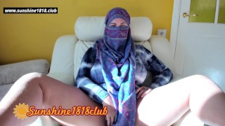 As-salamu alaykum tenth Arabian big tits wife from Taliban muslim in hijab masturbating on cam 10.17