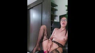 My bitch records herself sucking her